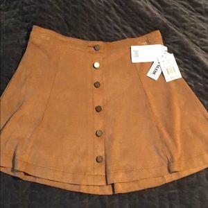 Faux Suede Jolt Skirt